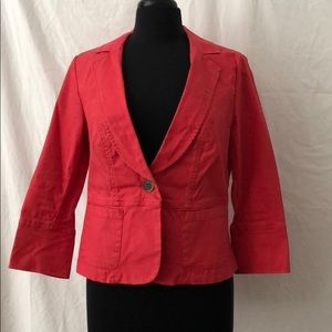 Coral Colored Casual Blazer-CAbi, Size 8